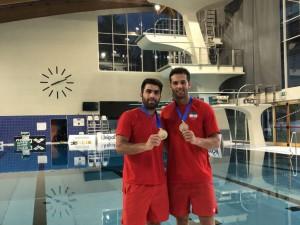 کسب مدال نقره شیرجهروهای ایران در تخته 3متر ایتالیا