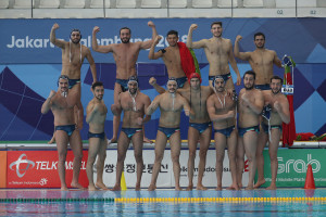 گزارش تصویری_ تقابل واترپلو ایران و سنگاپور در بازیهای آسیایی جاکارتا