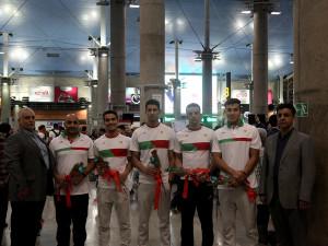 استقبال از تیم ملی شنا ایران در بازگشت از بازیهای آسیایی جاکارتا