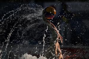 گزارش تصویری_ تقابل واترپلو ایران و ژاپن در بازیهای آسیایی جاکارتا
