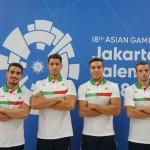 در روز چهارم مسابقات شنا بازیهای آسیایی جاکارتا، انصاری و یاوری در ماده 100 متر پروانه و تیمملی ایران ۴ در ۱۰۰ متر آزاد تیمی به رقابت با حریفان خود پرداختند.