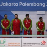 واترپلوئیستهای ایران در دور دوم مسابقات واترپلو بازیهای آسیایی جاکارتا مقابل عربستان پیروز شدند و به نیمه نهایی راه یافتند.