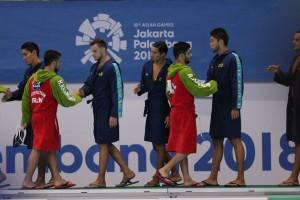 گزارش تصویری_ تقابل واترپلو ایران و قزاقستان در بازیهای آسیایی جاکارتا