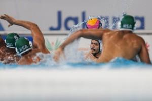 گزارش تصویری_ تقابل واترپلو ایران و عربستان در بازیهای آسیایی جاکارتا