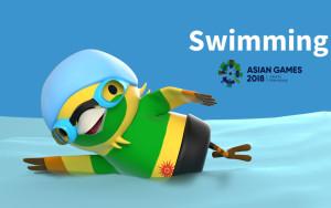 برنامه زمانبندی مسابقات شنا بازیهای آسیایی جاکارتا ۲۰۱۸