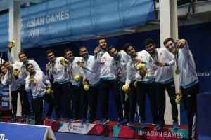 گزارش تصویری_ مراسم توزیع مدال برنز تیم ملی واترپلو ایران