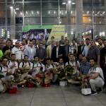 صبح امروز (یکشنبه) تیمهای ملی واترپلو و شیرجه همراه با گروهی از کاروان ورزشی ایران در بازیهای آسیایی جاکارتا وارد تهران شدند.