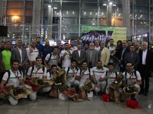 گزارش تصویری_استقبال از تیمهای ملی شیرجه و واترپلو اعزامی به بازیهای آسیایی جاکارتا