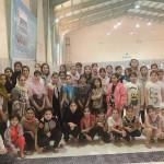 مسابقات شنا دختران آبادان به مناسبت شکست حصر آبادان (۵مهر) با حضور ۸۳ شناگر در پایگاه قهرمانی استخر خلیج فارس برگزار شد.