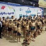 امروز (دوشنبه) در مراسم روز پایانی کلاسهای آکادمی شنا استخر آزادی جشنواره شنا برگزار شد.