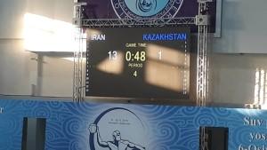 خلق شگفتی واترپلوئیستهای ایران برابر قزاقستان