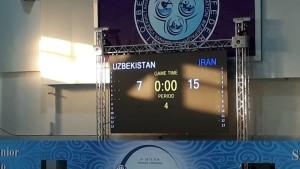 پیروزی مقتدرانه مردان واترپلو ایران مقابل ازبکستان