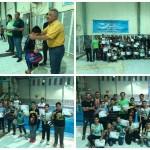 مسابقات شنا پسران منطقه آزاد اروند به مناسبت یادبود شهدای حمله تروریستی اهواز  در پایگاه قهرمانی استخر خلیج فارس برگزار شد.