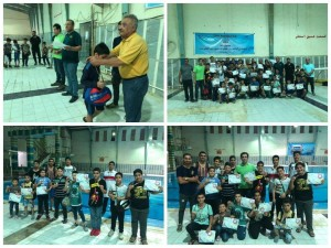 برگزاری مسابقات شنا پسران اروند