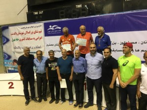 نتایج مسابقات شنا بزرگسالان جام تهران