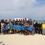 """مسابقات شنای آبهای آزاد با عنوان""""بزرگداشت روز ملی کیش"""" در جزیره کیش برگزار شد."""