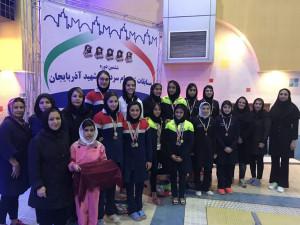 نتایج روز اول مسابقات جام سرداران شهید آذربایجان بخش دختران