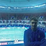 در روز نخست چهاردهمین دوره مسابقات شنا مسافت کوتاه قهرمانی جهان امیرعباس امرالهی با جابجایی رکورد ماده ۴۰۰ متر آزاد به کار خود پایان داد.