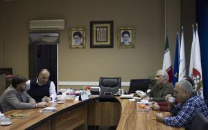 جلسه مسئولان فدراسیون شنا با رئیس جدید هیات شنا تهران