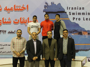 گزارش تصویری_ اختتامیه مسابقات شنا جایزه بزرگ