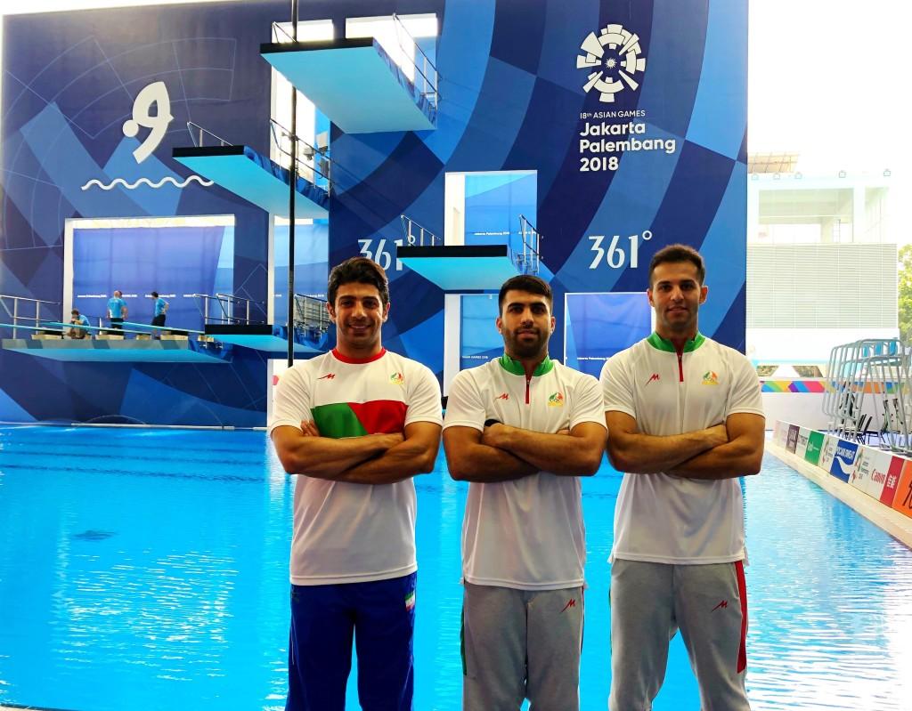 تیم ملی شیرجه ایران در بازیهای آسیایی جاکارتا 2018