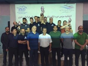 قهرمانی تیم ایران استرالیا در مساببقات لیگ شنا خراسان رضوی