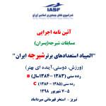 آییننامه اجرائی المپیاد استعدادهای برتر شیرجه ایران پسران در رده های سنی (سال B (14-15 و (سال C (12-13  اعلام شد.