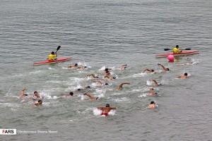 گزارش تصویری_ مسابقات شنای آب های آزاد جام کاسپین مازندران