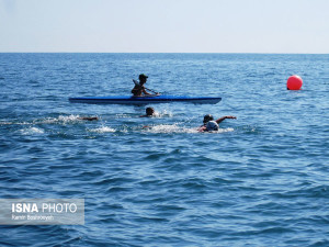گزارش تصویری_مرحله اول لیگ شنای آب های آزاد کشور در انزلی