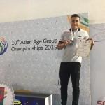 بنیامین قرهحسنلو در دومین روز مسابقات شنا قهرمانی آسیا دومین مدال کاوران ایران را دشت کرد.