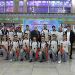 تیم ملی واترپلو ایران پس از کسب مدال برنز رقابتهای قهرمانی آسیا به کشور بازگشت.