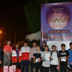 مسابقات شنا آبهای آزاد قهرمانی استان بوشهر