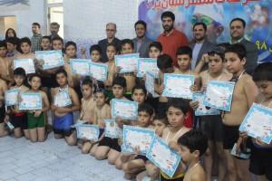 برگزاری جشنواره شنا دختران و پسران استخرهای یزد