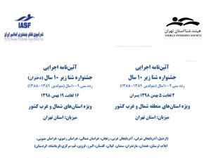 آئین نامه اجرایی جشنواره شنا زیر ۱۰سال استانهای شمال و غرب کشور
