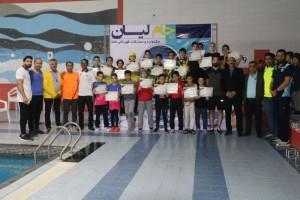 نتایج جشنواره شنا پسران جام لیان بوشهر