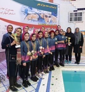 گزارش تصویری_مسابقات شنا دختران جام سرداران شهید آذربایجان