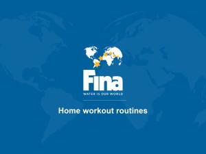 برنامه فینا برای حفظ آمادگی و تمرین ورزشکاران در منزل