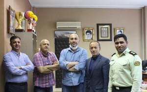نشست مسئولان ورزش دانشگاه علوم انتظامی امین با رئیس فدراسیون شنا