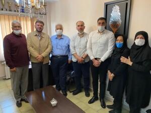 بازدید رئیس و نایب رئیس فدراسیون از هیات شنا استان تهران