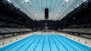 افتتاح سالن اصلی رقابتهای شنای المپیک توکیو