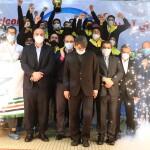 مراسم اهدا جام قهرمانی سی امین دوره لیگ برتر واترپلو با حضور مسئولان عالی رتبه ورزش کشور برگزار شد.
