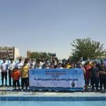 جشنواره شنا به مناسبت بزرگداشت روز جهانی فدراسیون بین المللی شنا ویژه پسران در استخر روباز 29 فروردین استان اصفهان برگزار شد.